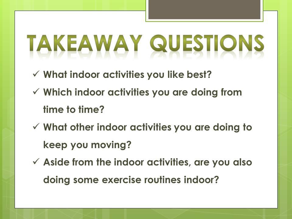 Indoor Activities for Fitness