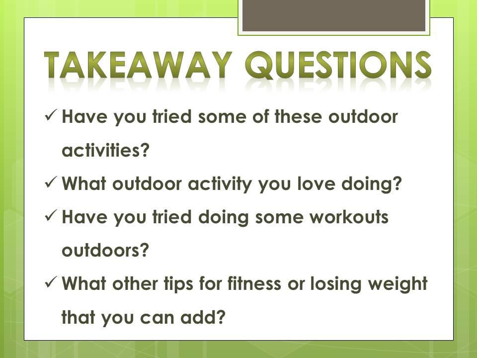 questions_outdoor activities