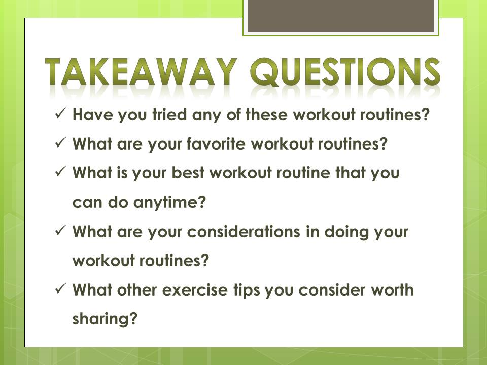 questions_workout routines