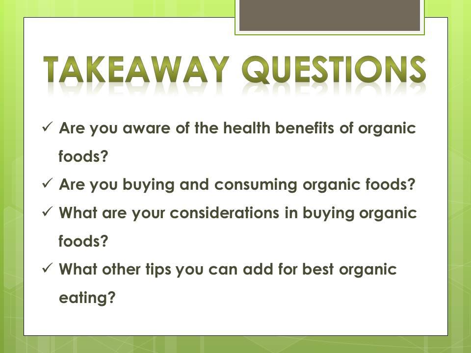 organic eating_questions