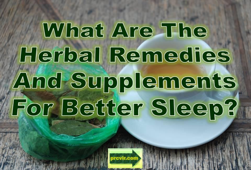 herbal remedies for sleep