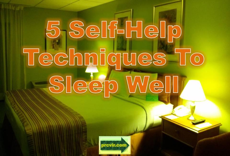 self-help techniques to sleep well