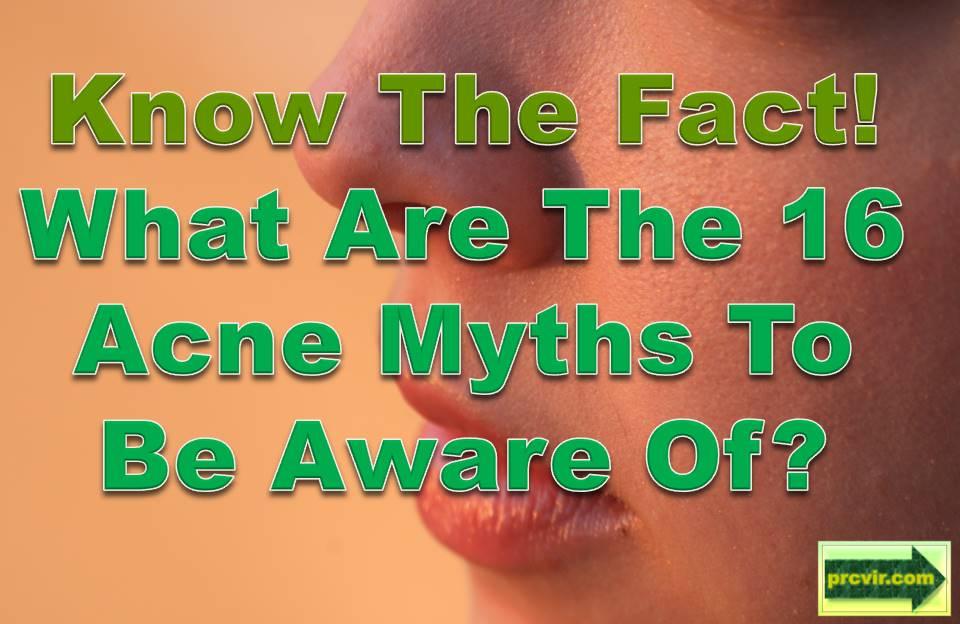 acne myths
