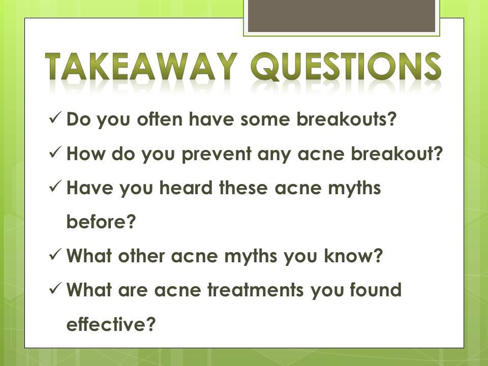 acne myths_q