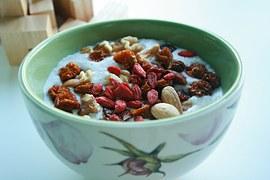 goji berries on top of oatmeal