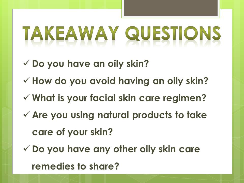oily skin_questions