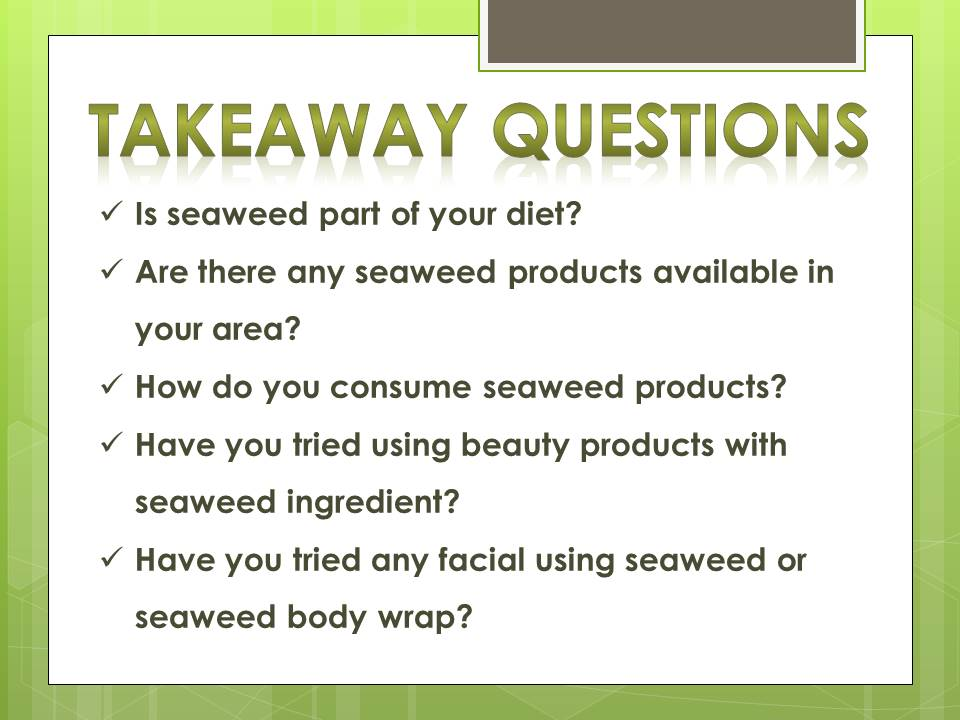 seaweeds for health and beauty