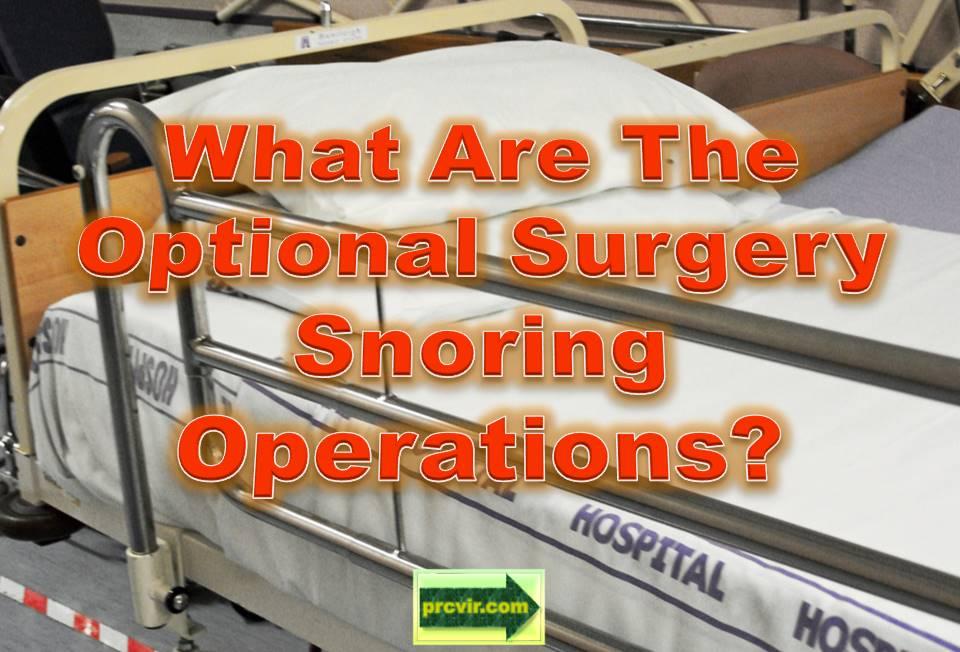 surgery snoring operations