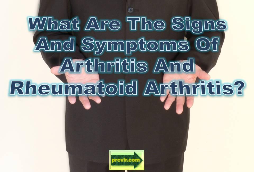 Signs_Arthritis and Rheumatoid Arthritis