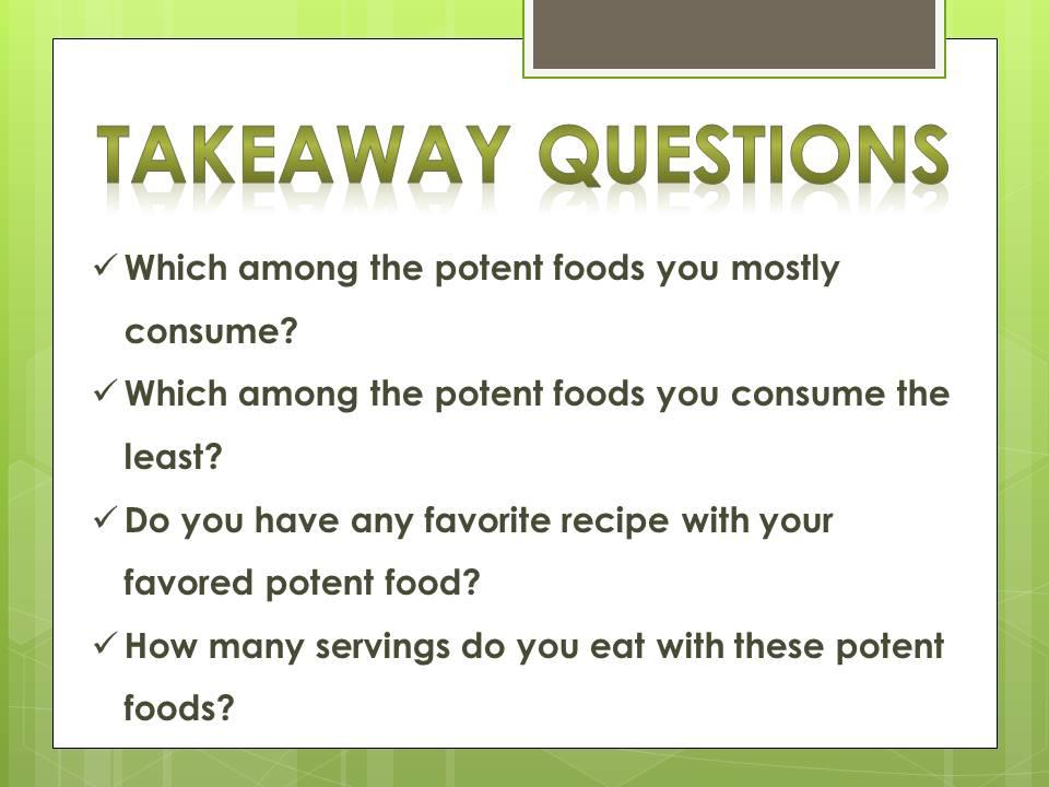potent foods_questions