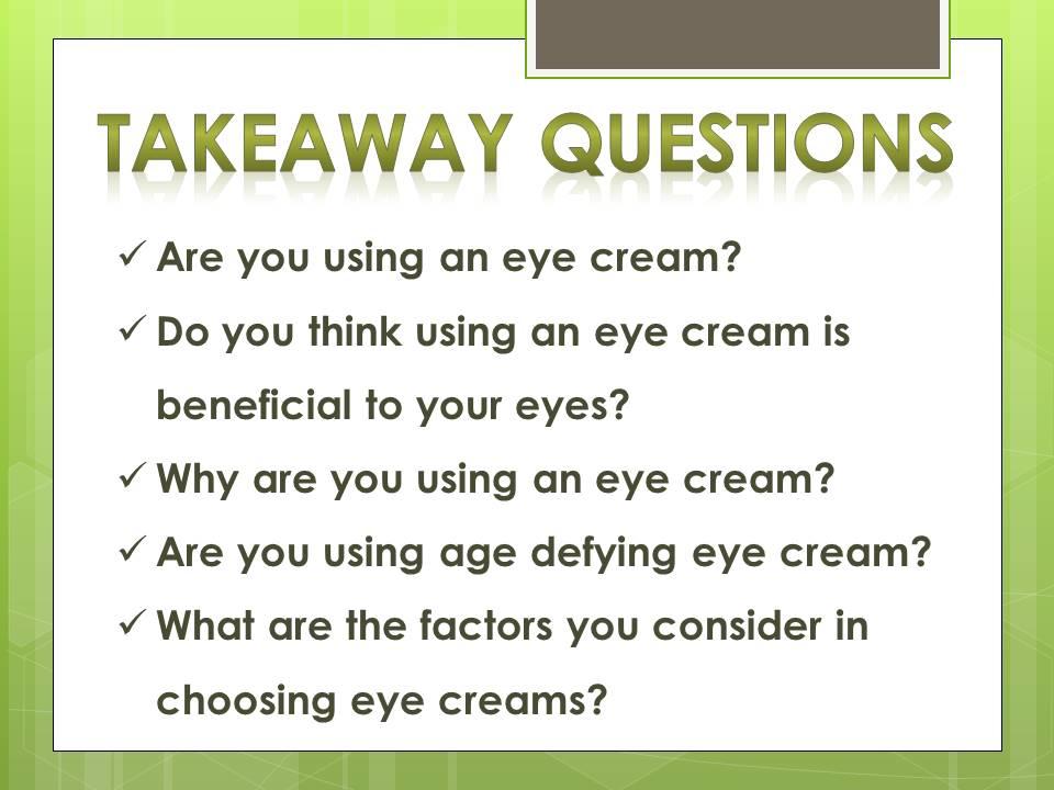 eye cream_questions