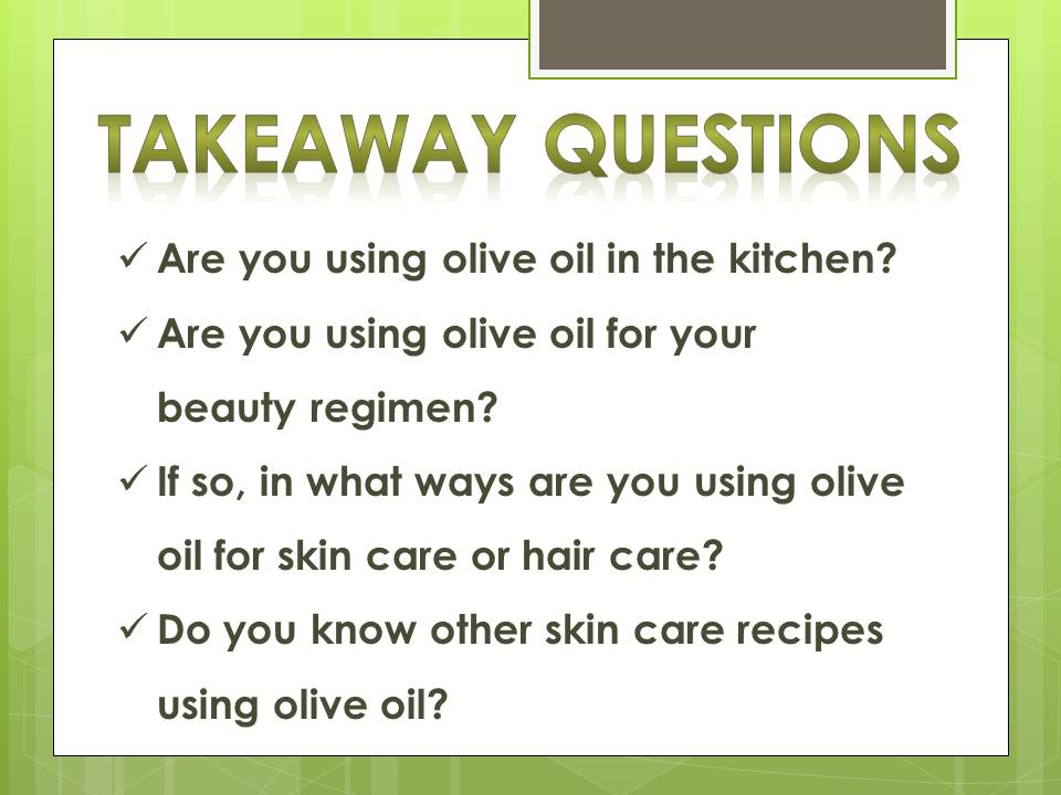 olive oil_questions