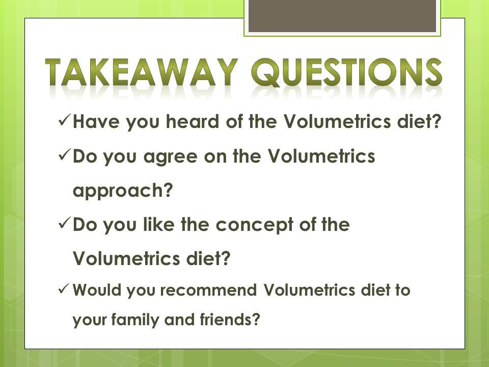 volumetrics diet_q