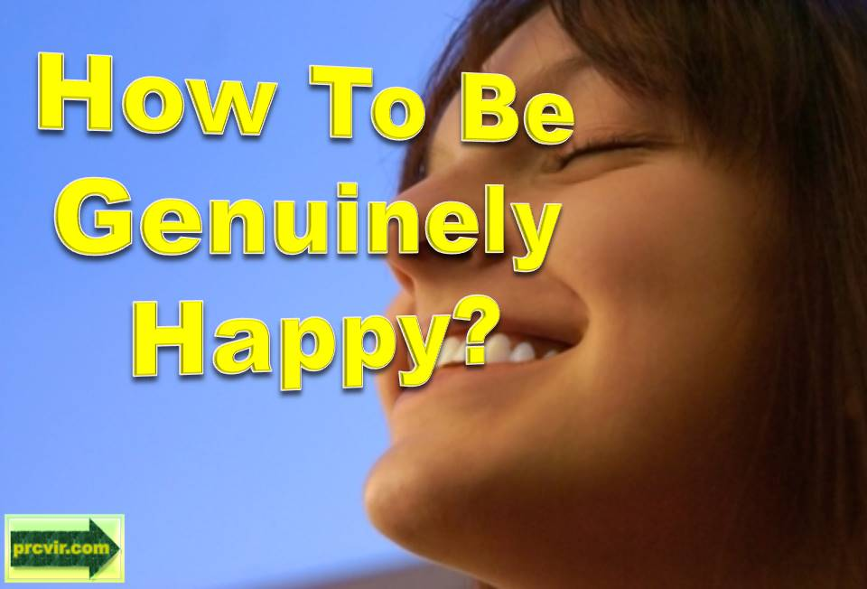 how to be genuinely happy